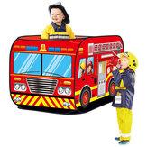 Casa de juegos plegable Tienda de juegos para niños Camión de bomberos Policía Coche Escuela autobuses Camión de helados Modelo Casa Tienda de campaña para niños