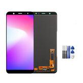 Tam Montaj Yok Ölü Pixel LCD Ekran + Dokunmatik Ekran Digitizer Değiştirme + Onarım Aletler Samsung Galaxy A6 + A6 Plus 2018 A605 A605F A605G