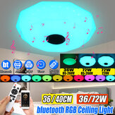 LED-paneellamp Plafondlamp Afstandsbediening APP RGB Bluetooth Music Smart Plafondlamp