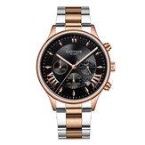 GADYSON A0701 moda masculina relógio exibição de data empresarial relógio de quartzo com pulseira de aço inoxidável