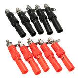 DANIU 30 Pares 4mm Terminal Banana Plug Tomada Jack Conectores Instrumento Ferramentas de Luz Preto e Vermelho