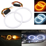 Para 60/70/80/90/100 / 110mm 2835 LED Angel Eyes Lights Pierścień Halo DRL Włącz sygnał Light