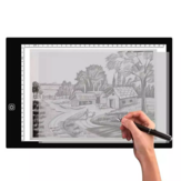 Gideatech A3/A4 LED Light Pad Tracing Stepless Dimmable Brightness Artcraft Light Table Diamond Drawing Pad USB with Scale Double-side Calligraphy with No Ink