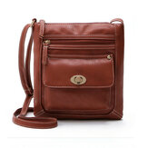 Donne pu borsa tracolla in pelle crossbody