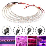 5PCS 50CM 5050 Waterproof LED Grow Light Strip Lamp+ Power Adpater for Veg Flower Plant DC12V