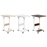 60 * 40cm Adjustable Height 72-86cm Wheeled Dormitory Movable  Small Table  Economical Bedside Dormitory Table Assembly Lifting Notebook Table with Shelf