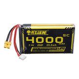 ALIENMODEL 7.4V 4000mAh 2S 5C Lipo Батарея для передатчика QX7 Radiomaster TX16SR