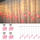 AC220V 3.5M 96 LED Flamingo String Curtain Light Fairy Lamp Wedding Indoor Home Decor EU Plug