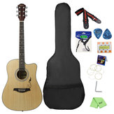 IRIN 41 Inch Corner Horn Acoustic Guitar For Beginners With Guitar Bag/Pick/Strap/Pipe /Wrench/Cloth/Capo