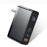 Baseus GaN2 Pro Carregador rápido de 120 W Mini Dual Type-C + USB-A Adaptador de energia Tomada