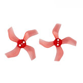 4 Pairs Gemfan 1636 1.6x3.6x4 40mm 4-blade 1mm Hole Propeller for 1103 1105 RC Drone FPV Racing Brushless Motor