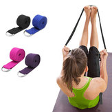 KALOAD 2.5m Yoga Stretch Strap Fitness Exercise Yoga Strap Waist Leg Resistance Bands D-Ring Belt