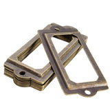 12Pcs Antique Brass Metal Label Pull Frame Handle File Name Card Holder For Furniture Cabinet Drawer Case