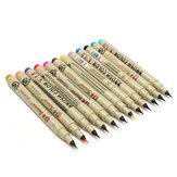 12 colori 1.5mm Art Marker Manga Fine Head Paint Graphic Sketch Set penna disegno