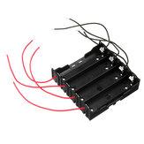 5pcs DIY 4 Slot 18650 Bateria Suporte com 8 derivações