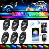 6Pcs RGB 5050 96 LED Car Rock Light Underbody Light bluetooth App + Τηλεχειριστήριο