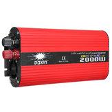 DOXIN® 2000W Солнечная Преобразователь постоянного тока DC 12V / 24V в переменный 220V / 110V Модифицированный преобразователь синусоидальной волны