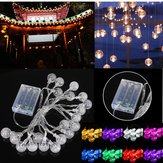 3M 20LED Bateria Bubble Ball Fairy String Lights Garden Party Decoração de casamento de Natal