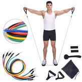 11Pcs/Set Home Resistance Bands Kit Set Yoga Band Gym Pull Rope Fitness Training Exercise Tools