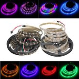 5M 45W 150SMD WS2812B LED RGB Colorful Strip Light Impermeable IP65 blanco / negro PCB DC5V