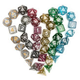 42Pcs Polyhedral Dice Set D20 D12 D10 D8 D6 D4 Games With Bag Velvet Pouches