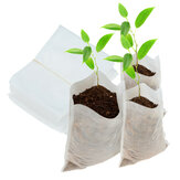 100pcs Non-woven Fabric Seedling Raising Bags Nursery Biodegradable Pots Row Bag Planter Bag Home Garden Supplies
