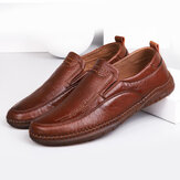 Men Casual Microfiber Leather Oxfords