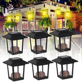 6PCS Solar Powered LED Lantern Hanging Light Candle Garden Halloween Lamp IP65 Outdoor Decor