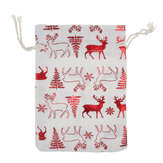 50Pcs 6 Styles Gift Bags Christmas Candy Pouches Drawstring Wedding Party Gift
