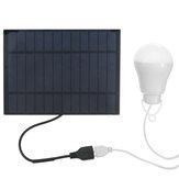 Tragbare LED Solarlampe Solarenergie Licht Solarpanel angetriebene Notlampe für Outdoor-Garten Camping Zeltfischen