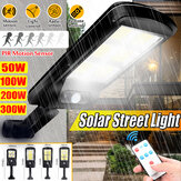 Solar Powered LED COB Lampu Jalan PIR Motion Sensor Outdoor Garden Wall Lamp + Remote Control