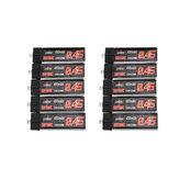 10Pcs URUAV 3.8V 450mAh 50/100C 1S HV 4.35V Lipo Battery PH2.0 for Happymodel Snapper7
