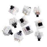 Pacote de 10 peças com 5 pinos Gateron Silent Black Switch Mecânico Switch para teclado de jogos Mecânico