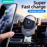 Joyroom 15W Qi Wireless Charger Car Phone Holder Wireless Charger Car Mount Smart Infrared Sensor for Air Vent Mount / Dashboard Mobile Navigation Bracket For iPhone for Samsung All Smartphone