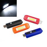 Mini 0.5W USB Rechargeable COB LED Porte-clés Lampe de Poche Lampe de Poche Torche