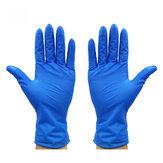 100 sztuk / zestaw Niebieskie rękawiczki Rękawiczki lateksowe Wodoodporne rękawiczki jednorazowe Rękawiczki czyszczące