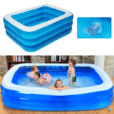 IPRee® 1 ~ 3Persons 188cm * 142cm * 68cm ثلاث طبقات حمام سباحة قابل للنفخ الصيف حديقة السباحة في الهواء الطلق نفخ بركة سباحة للأطفال الكبار