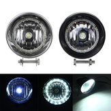 Zwart / Chrome LED Motorcycle Bullet Koplampen High / Low Beam Head Light Lamp