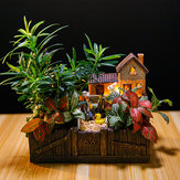Beleuchten der Toskana Kabine Blumentopf Handwerk Ornamente Magic Lantern House Planter Bonsai