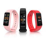 Bakeey C7 Blutdruck- und Sauerstoffmonitor Armband Sichtbare Nachricht App Erinnern Sie an Wetteranzeige Smart Watch