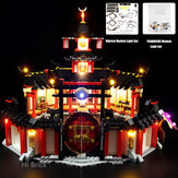 USB DIY LED Light Kit ONLY For Lego 70670 Monastery of Spinjitzu Building Blocks Toys