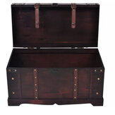 KCASA Antique Treasure Chest Storage Box Handmade Vintage Wooden Watch Storage Box Organizer Case