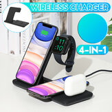 Bakeey 4 in 1 Foldable 15W Qi Fast Wireless Charger Stand Dock Station for Airpods Pro iWatch for iPhone 12 Pro Max for Samsung Galaxy Note S20 ultra for Huawei Mate40