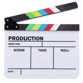 Clapperboard TV Film Film Clapper Board Handgefertigte Bunte Erase Director Cut Prop