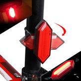 XANESTL17CyclingBicycleBikeLight PC ABS 500mAh HB MAZORCA LED 5 modos de carga USB IPX5 Impermeable 360 ° Girar luz de marcha nocturna