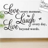 لايف الحب فراشة الجدار ملصق غرفة المعيشة المنزل الديكور الإبداعية صائق دي جدارية جدار الفن