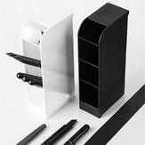 Fizz FZ21013 Slant Insert Pen Holder 4-Grid Desktop Pen Box Desk Pencil Storage Stationery Office School Students Supplies