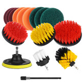 16Pcs/Set Drill Scrubber Cleaning Brush Kit for Bathroom Surfaces Tub Tile and Grout