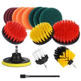 16 stks / set boor scrubber reinigingsborstel kit voor badkameroppervlakken badtegel en voeg