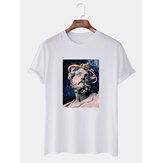 T-shirt casual traspirante Banggood Special Offers Cartoon Print Crew Collo